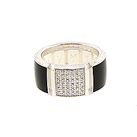 Chaumet Class One 18k White Gold Diamond Black & White size 52 US 6