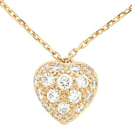 Cartier Heart Necklace 18K Rose Gold with Pave Diamond