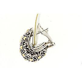 Omega Back 18K Yellow Gold, Sterling Silver Earrings