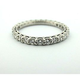 TIFFANY & CO. SHARED SETTING FULL CIRCLE .86 .85 DIAMOND PLATINUM WEDDING 6.5