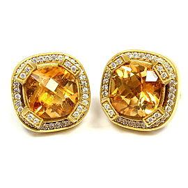 Kieselstein Cord 18K Yellow Gold 0.60ctw Diamond Beryl Earrings