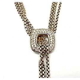 David Yurman 925 Sterling Silver 0.25ctw Diamond Necklace
