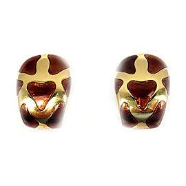 Roberto Coin 18K Yellow Gold Enamel Huggie Earrings