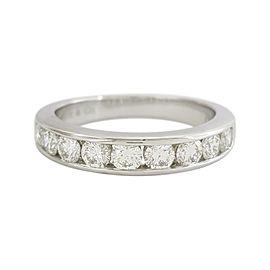 Tiffany & Co. Wedding Ring Platinum Diamond Size 7.5