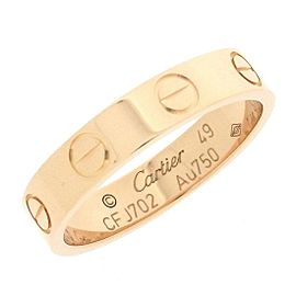 Cartier 18K Rose Gold Ring Size 4.75