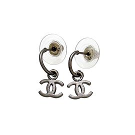 Chanel CC Silver Tone Vintage Earrings
