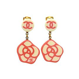 Chanel Camelia Gold Tone Vintage Earrings