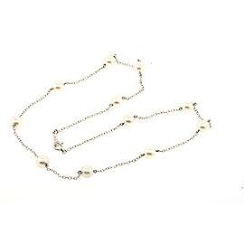 Mikimoto 18k 18K White Gold Cultured Pearl Necklace
