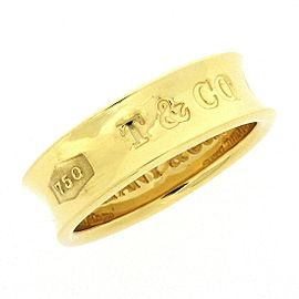 Tiffany & Co. 1837 18K Yellow Gold Ring Size 5.25