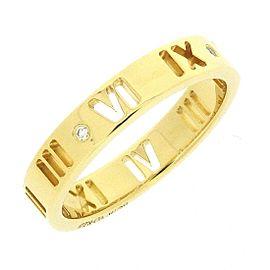 Tiffany & Co. Atlas 18K Yellow Gold Diamond Ring Size 4.5