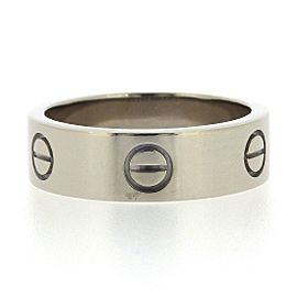 Cartier Love Ring 18K White Gold Size 7.75