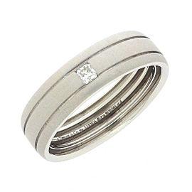 Tiffany & Co. 18K White Gold Diamond Lucida Ring Size 10.75