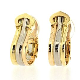 Cartier C2 Clip-On 18k 3-Color Gold Earrings