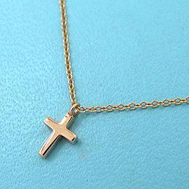 Tiffany & Co Diamond/rose gold Metro Cross Mini Necklace TNN-1754