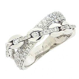 18K White Gold Diamond Necklace Size 133mm