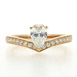 Chaumet 18K Rose Gold Diamond Ring Size 5.5