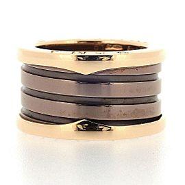 Bvlgari 18K Rose Gold Ceramic Ring Size 5