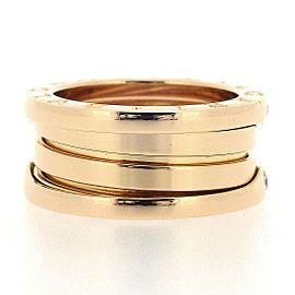 Bvlgari 18K Rose Gold Diamond Ring Size 4