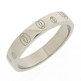 Cartier 18K White Gold Ring Size 8.25