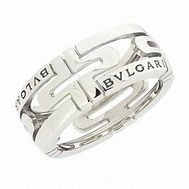 Bvlgari 18K White Gold Ring Size 5.25