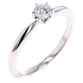 Mikimoto Platinum Diamond Ring