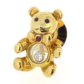 Chopard 18K Yellow Gold Diamond, Sapphire, Ruby Brooch