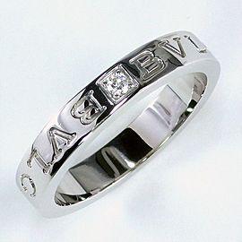 Bulgari 18K White Gold Diamond Ring Size 9.25