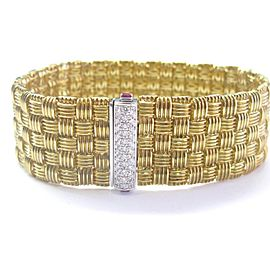 Roberto Coin 18K Yellow Gold Appassionata Diamond Bracelet