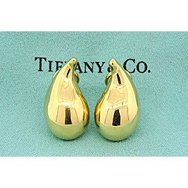 Tiffany & Co. Elsa Peretti 18K Yellow Gold Tear Drop Earrings
