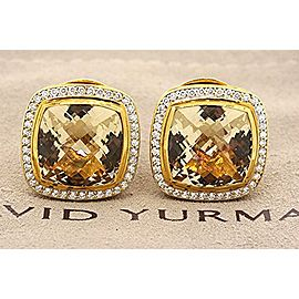 David Yurman 18K Yellow Gold Diamond, Citrine Earrings