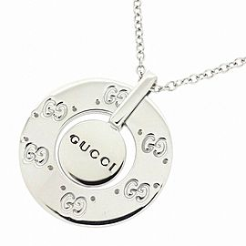 Gucci 18K White Gold Necklace