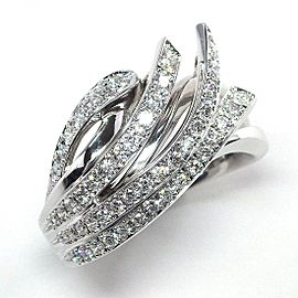 Nina Ricci 18K White Gold Diamond Ring Size 7