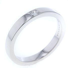 Bulgari Marry Me Platinum Diamond Ring Size 5.25