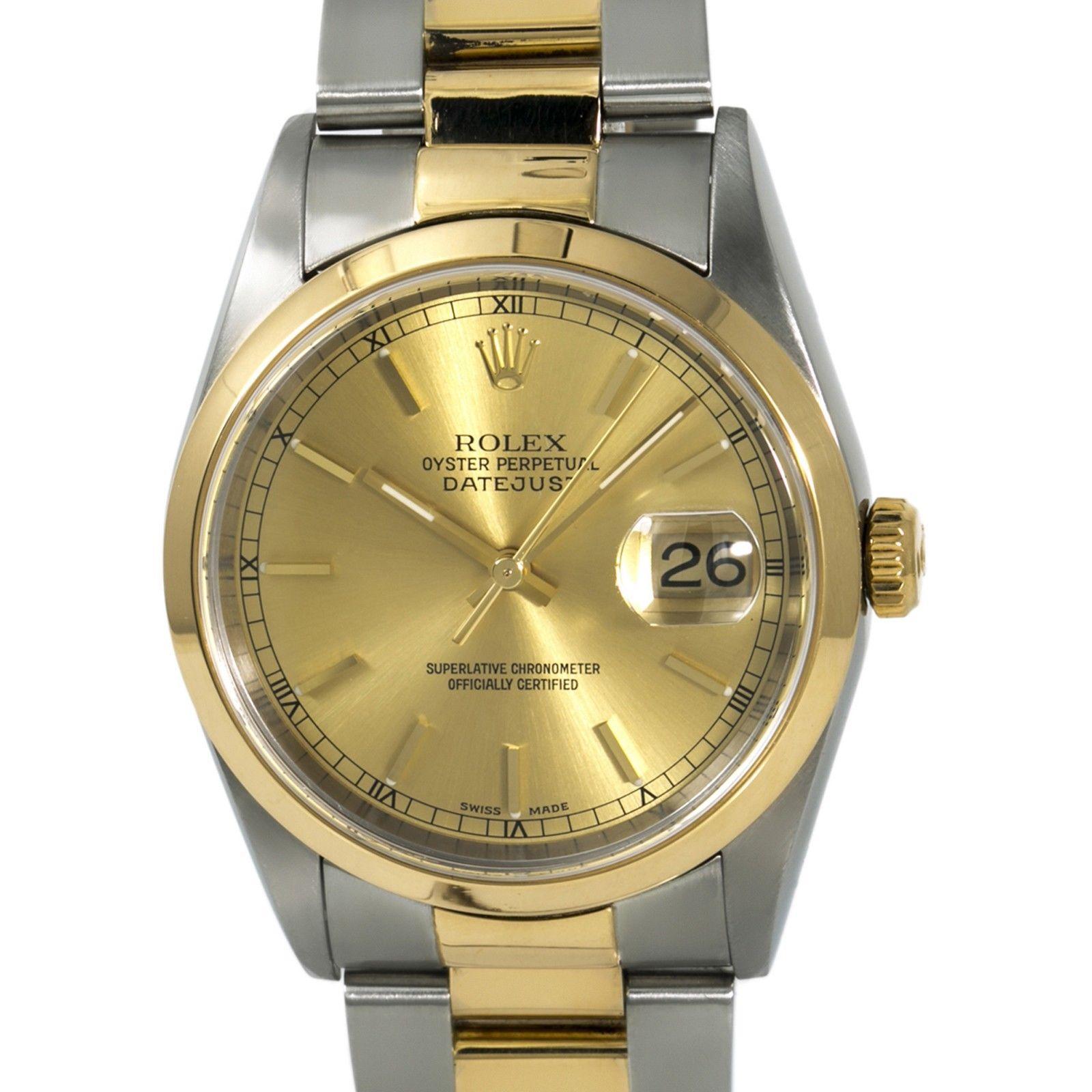 Rolex Datejust 16203 38mm Mens Watch