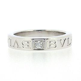 Bvlgari 18K White Gold Diamond Ring Size 5.5