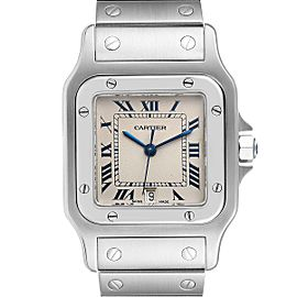 Cartier Santos Galbee Stainless Steel Silver Dial Unisex Watch 987901