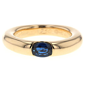 Cartier 18K Yellow Gold Sapphire Ring