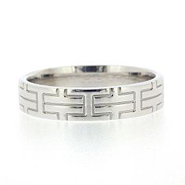 Hermes 18K White Gold Ring Size 8.5