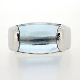 Bvlgari 18K White Gold Topaz Ring Size 4.75