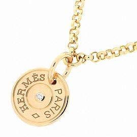 Hermes 18K Rose Gold Diamond Necklace