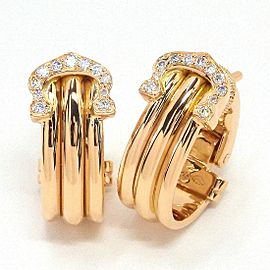 Cartier 18K Rose Gold Diamond Earrings