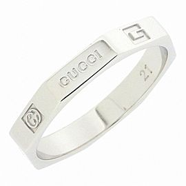 Gucci 18K White Gold Ring Size 9.25
