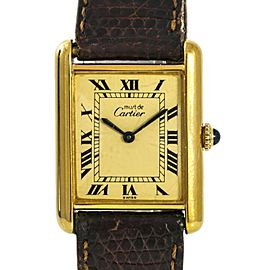 Cartier Tank Vermeil 26943 24mm Womens Watch