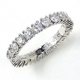 Cartier Etincelle Platinum Diamond Wedding Ring Size 4.75