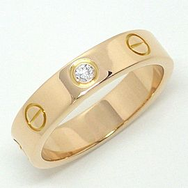 Cartier Mini Love Ring 18K Rose Gold Diamond Size 4.25
