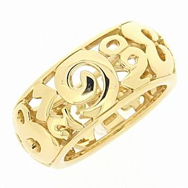18K Yellow Gold Ring Size 7.25