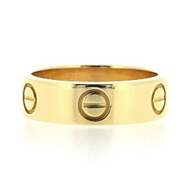 Cartier 18K Yellow Gold Love Ring Size 5.75