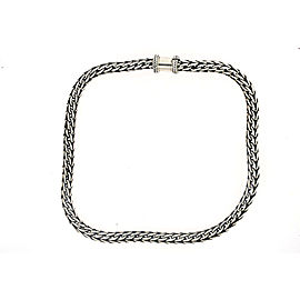 "Surrti Heavy Sterling Silver Chain Necklace Wheat Braided Byzantine 18"" 8mm 123g"