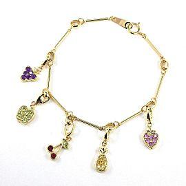 Vecchio 18K Yellow Gold Sapphire, Citrine Bracelet