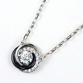 Cartier Trinity 18K White Gold Ceramic Diamond Necklace